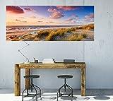 Wallario selbstklebendes XXL Poster – Abendspaziergang am Strand – Sonnenuntergang über dem Meer in Premiumqualität, Größe: 80 x 200 cm - 3