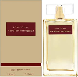 Narciso Rodriguez Narciso Rodriguez Rose Musc Eau de Parfum Intense Spray for Her, 3.3 Ounce