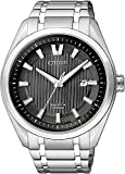 Citizen AW1240-57E - Reloj de Cuarzo para Hombre, con Correa de Titanio, Color Plateado