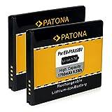PATONA 2X Bateria EB-F1A2GBU Compatible con Samsung i9050 Galaxy S2 i9108 i9100 i9103 Galaxy R i9105 S2 Plus i9105p i9188 i9100g
