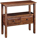 Signature Design by Ashley - Abbonto Console Sofa Table - Casual - Warm Brown