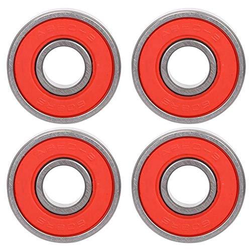Alomejor Rodamientos de 8 rodamientos Rodamientos de Patines de Rodillos de Longboard para el reemplazo de Tablas de Skate(Red 9)