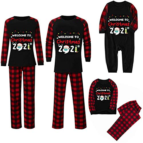 Walaka Parent-Enfant Pyjama NoëL Famille Pyjamas Sleepwear Renne VêTement Plaid Blouse Pants Family Pajamas Sleepwear Matching Christmas Set Pyjama