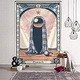 Wandteppich Boho Mandala Schöne Tarot-Karte Muster Decke Wandbehang Wandteppiche Schlafzimmer Tagesdecke Abdeckung Astrologie Divinatio Wanddekor wanddeko Wand teppiche 150x130cm/59 * 51inches