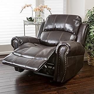 Christopher Knight Home Harbor Glider Recliner Chair, Dark Brown
