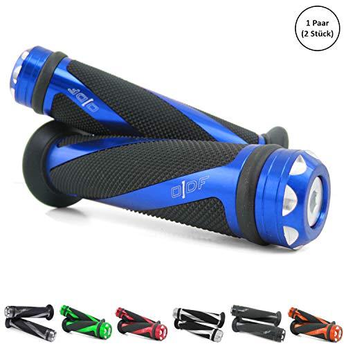 Universal Motorrad/Roller Lenkergriffe Griffgummis 22/24-25mm (Coil) (Blau)