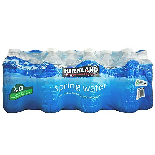 Kirkland Signature Natural Spring Stillwasser – Kirkland Signature Sparkling Water 40 x 500 ml