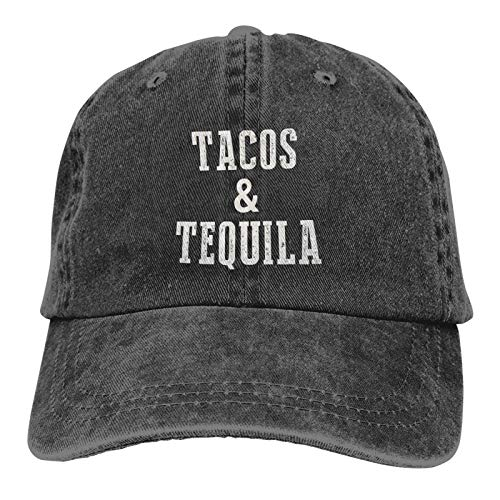 Denim Cap Tacos & amp;Tequila Baseball Dad Cap Classic Adjustable Casual Sports for Men Women Hat