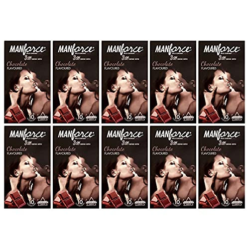 Manforce Combo Pack of Chocolate Condom(Extra Dotted) Condom Set of 10