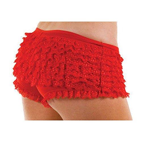 Mutandine per burlesque, sexy, in 3 colori, taglia S, M, L Red Taglia unica