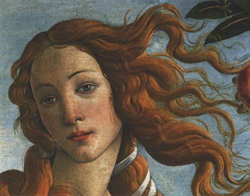 The Birth of Venus (Head of Venus), 1486 by Sandro Botticelli Art Print, 10 x 8 inches