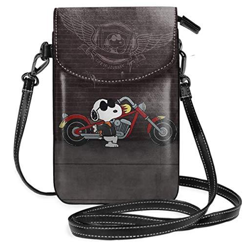 LIUYAN Coole Snoopy Damen Umhängetasche, kleine Handybörse mit Kreditkartenfächern