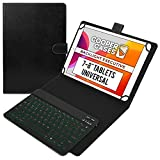 Cooper Backlight Executive Keyboard Case for 7, 7.9, 8' Tablets | Universal 2-in-1 Bluetooth Keyboard & Leather Folio, 7 Color Backlit, 13 Hotkeys