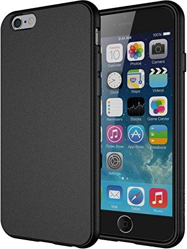 iPhone 6 Caso, di TPU Diztronic completa opaca Soft Touch flessibile per Apple iPhone 6 & 6S (4.7') - Nero