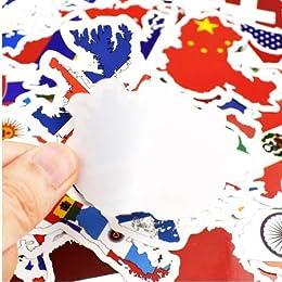Drapeaux nationaux Autocollants Pays Carte Voyage