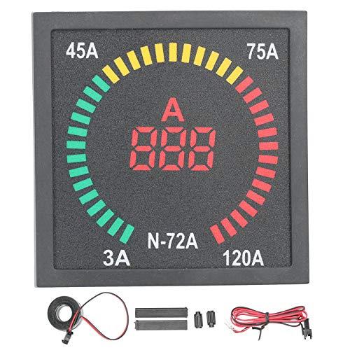 Panel medidor de corriente digital, luz indicadora de señal de corriente CA, pantalla de color claro Medidor probador de corriente digital LED AC220V, rango de medición 3‑120A, utilizado en energía el