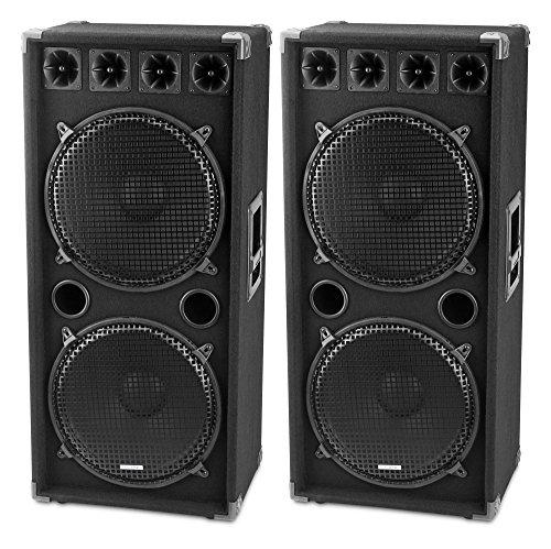 McGrey DJ-2522 pareja altavoces DJ sala fiesta 2 x
