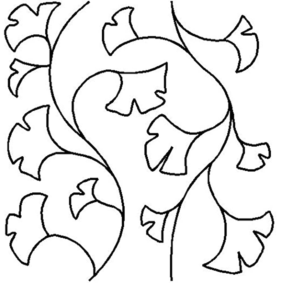 Quilting Creations Gingko Flower Quilt Stencil, 9