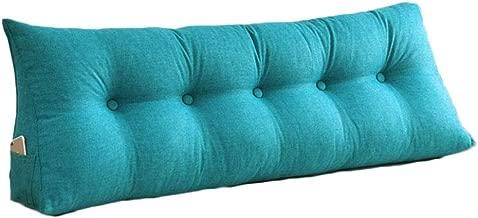 Color : Gray, Size : 100cm RFJJAL Coj/ín de la Espalda Coj/ín Suave Bolsa de tri/ángulo Sof/á Coj/ín Cama Lectura 4 Colores