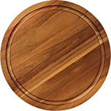 AIDEA Round Cutting Board Acacia Wood Cheese Board and Thick Charcuterie Board With Juice Groove
