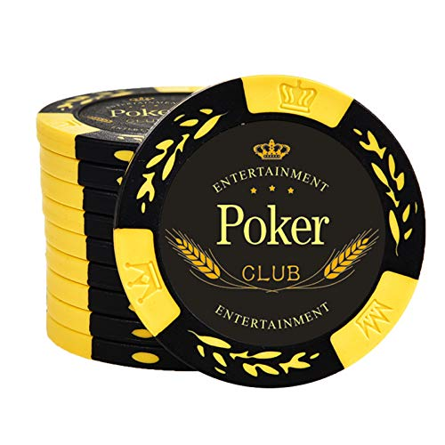 YZJJ Poker Chips Box - Juego de póquer con maletín Transparente para fichas de póquer