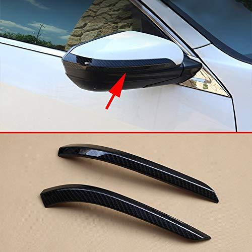 DINGMINGMING La Fibra de Carbono Espejo Lateral Tiras de Ajuste for Ajuste de Honda Cívico 10a Convertible Coupe Hatchback Type R 2016 2017 2018 2019 2020 Volver retrovisores Recorta
