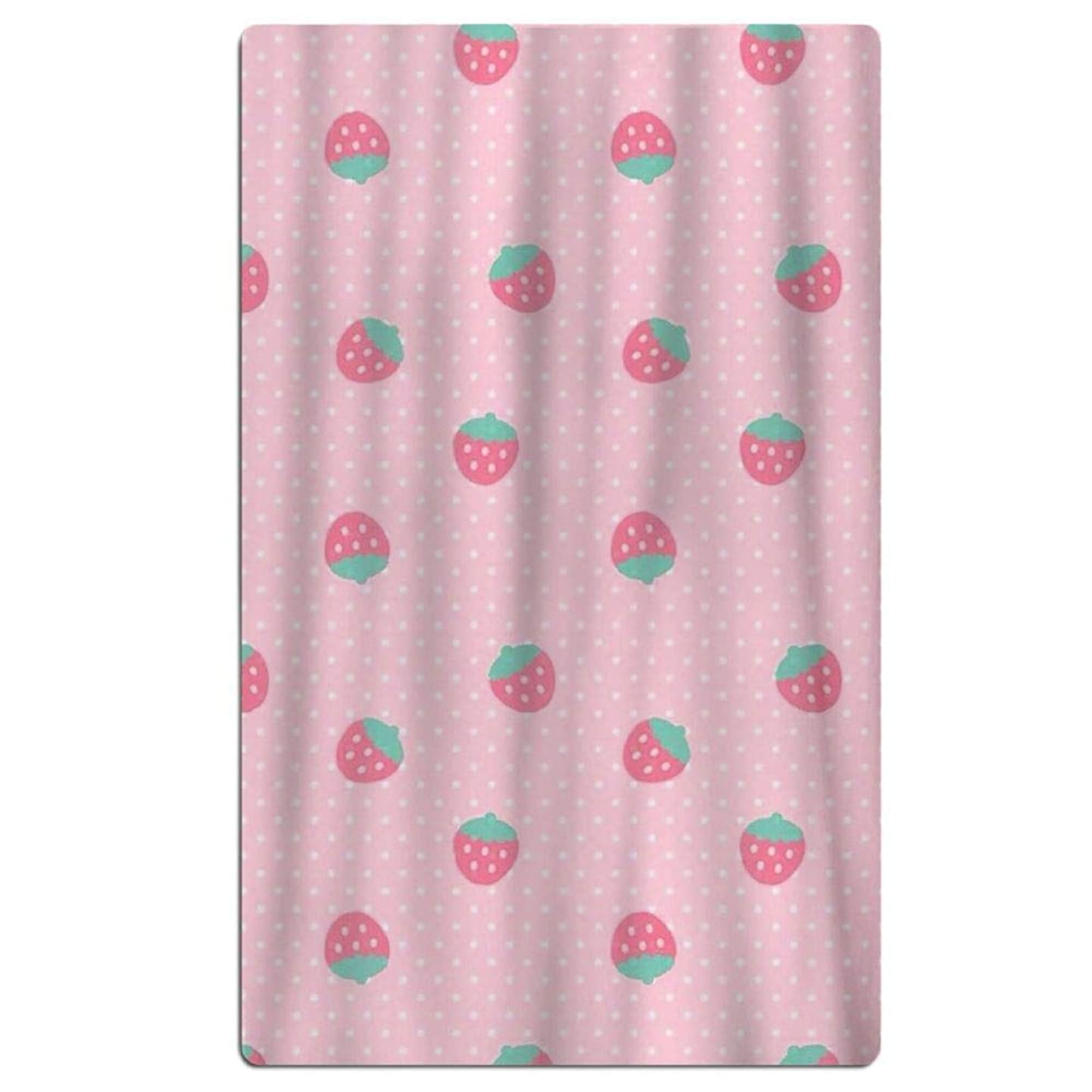 Bath Towel Cute Strawberry Pink Background Creative Design Soft Beach Towel 31