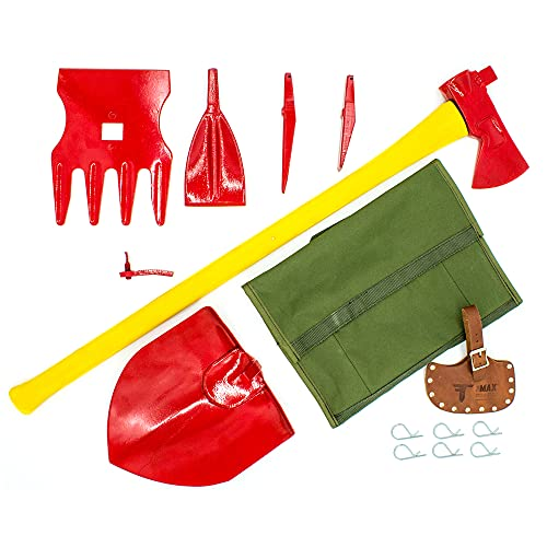 The MAX Multipurpose Axe Toolkit by Forrest Tool, Includes 8 Essential Tools for Camping, Hunting,...