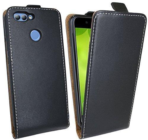 cofi1453 Klapptasche kompatibel mit Huawei NOVA 2 Schutztasche Hülle Cover Hülle Etui in Schwarz Tasche Hülle