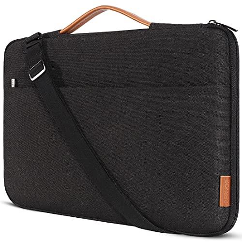 """DOMISO 17.3 Zoll Laptop Tasche Hülle Wasserdicht Stoßfestes Notebook Sleeve Case Schultertasche Schutzhülle für 17.3\"""" HP Pavilion 17/HP Envy 17/HP 17/Dell Inspiron 17/MSI/Lenovo IdeaPad 321,Schwarz"""