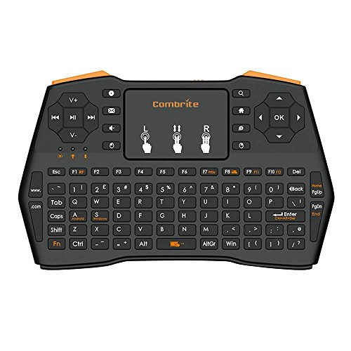 Combrite I8 + 2.4 GHz RF Mini teclado inalámbrico y ratón touchpad Combo - Multimedia Portátil de mano Android keyboard- para PC Google Android Smart TV Box Media Mini TV PC