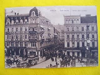 Antigua Postal - Old Postcard : BERLÍN - Café Bauer - Unter den Linden