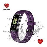 Abeyete Pulsera de Actividad Reloj Inteligente para Hombre y Mujer IP68 Impermeable con 14 Modos de Deportivo con Pulsómetro Sueño Podómetro Calorías Pulsera Deporte para iOS y Android(Púrpura)