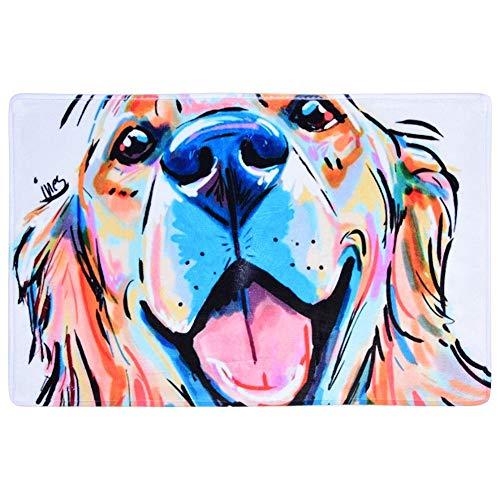 50 * 80 cm anti-slip badmat, hond afdrukken water absorberende vloermat pad voor badkamer keuken machine wasbaar bad tapijt 50 x 80 cm #1