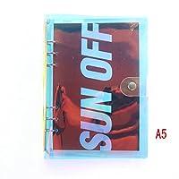 domikee新しいかわいいクリエイティブレーザーPVC 6穴バインダーノートブック、2種類:透明カバーとレーザーカバーa5a6, Includes Inner・ペーパー A5 ホワイト