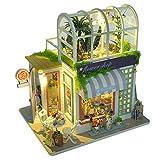 Miniatur Puppenhaus Kit, DIY Holz Gartenhaus Haus Modell für Mädchen und Jungen Kinder