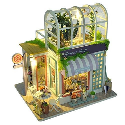 Somedays Miniatur Puppenhaus Kit, DIY Holz Gartenhaus Haus Modell für Mädchen und Jungen Kinder