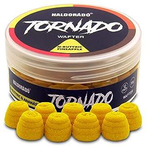 Haldorado Tornado, Fumar o Sangrar Pellet Boilie Bait, Cebo de Pesca, Accesorios de Pesca de Carpa, Forma Especial, N-Butyric+Piña, Amarillo