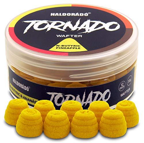 Haldorado Tornado, Señuelos Boilie para fumar o sangrar, cebo de pesca, forma especial, N-butírica+piña, amarillo