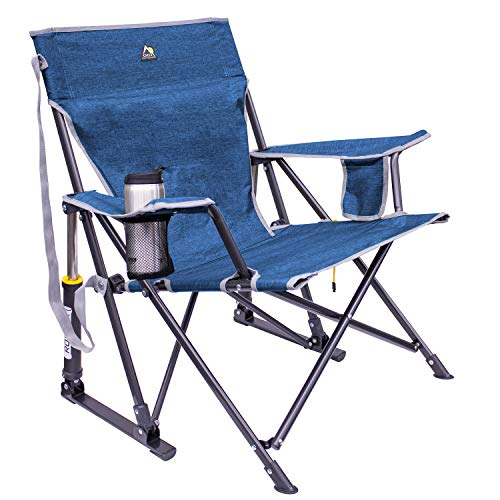 GCI Outdoor Camp Chair, Synthetic, Heathered Royal, Regular