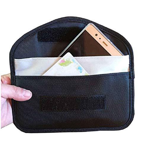 Bolsa De Protección contra La Radiación RFID Teléfono Móvil Smartphone Bolsa De Parada De Radio Sin Señal Mobile Funda Cinturón Horizontal para Móviles Y Smartphones,HSGAV,Negro