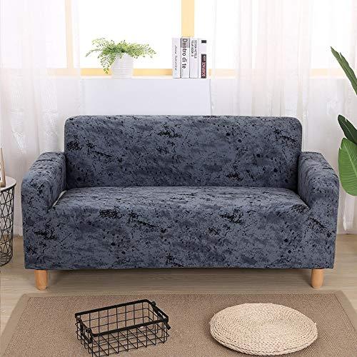 WXQY Funda de sofá elástica Todo Incluido a Prueba de Polvo para Sala de Estar Funda de sofá de sección en L Funda de sillón Muebles Funda de sofá A17 3 plazas