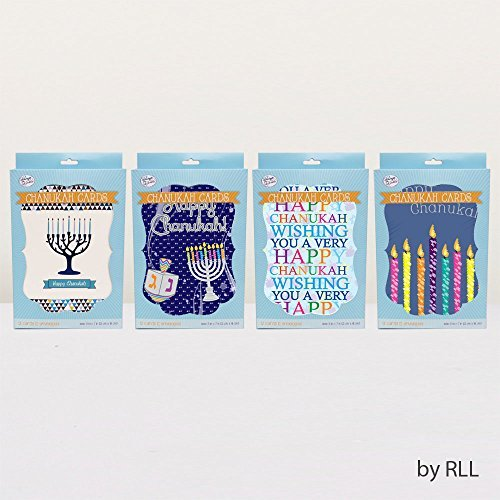Chanukah Boxed Cards - 12 Cards & 12 Envelopes One Style
