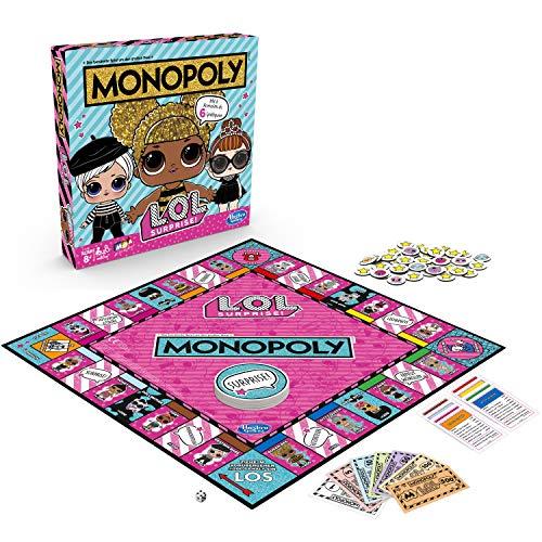 Monopoly Spiel: L.O.L. Surprise! Brettspiel für Kinder ab 8 Jahren