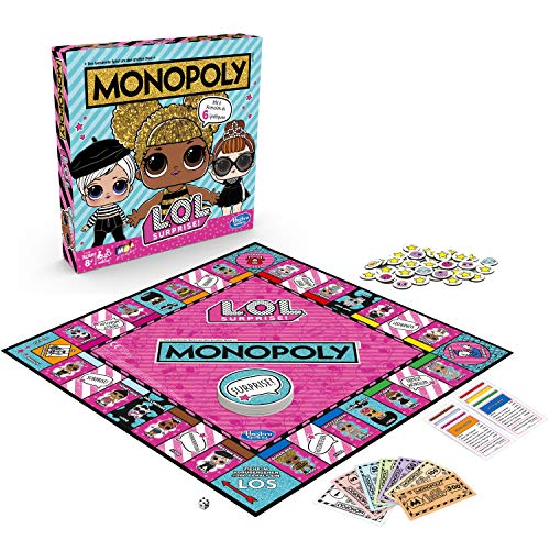 Hasbro Monopoly E7572100 Monopoly Spiel: L.O.L. Surprise Brettspiel für Kinder ab 8 Jahren