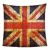 Kuscheldecke Flanell Fleecedecke Vereinigtes Königreich Flagge Decke Jet-Print Mikrofaser Creation Tagesdecke, Super Weiche Warme mit Zweiseitige Sofadecke, Reisedecke für Erwachsene Und Kinder