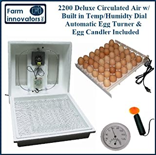 Chicken, Goose Egg & More Incubator Special COMBO w/ Egg Turner, Candling Light and Fan Kit
