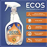 Earth Friendly Products ECOS Window Cleaner with Vinegar, 22-Ounce Bullet Points