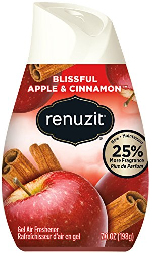 Renuzit Blissful Apple & Cinnamon Adjustable Gel Air Freshener, 7oz Cone (Pack of 12)