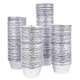 Kingrol 300 Pack Aluminum Foil Ramekins, 4 Ounces Disposable Baking Cups for Tart, Cupcake, Souffle, Appetizer